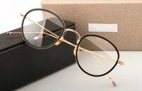 Thom TB905 metalowe ramki okularów marki mężczyźni kobiety Óculos Vintage okulary korekcyjne okulary ramki Okrągłe okulary Do Czytania z pudełkiem