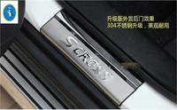 Stainless Steel Door Sill Scuff Plate For Suzuki Sx4 S Cross 2014