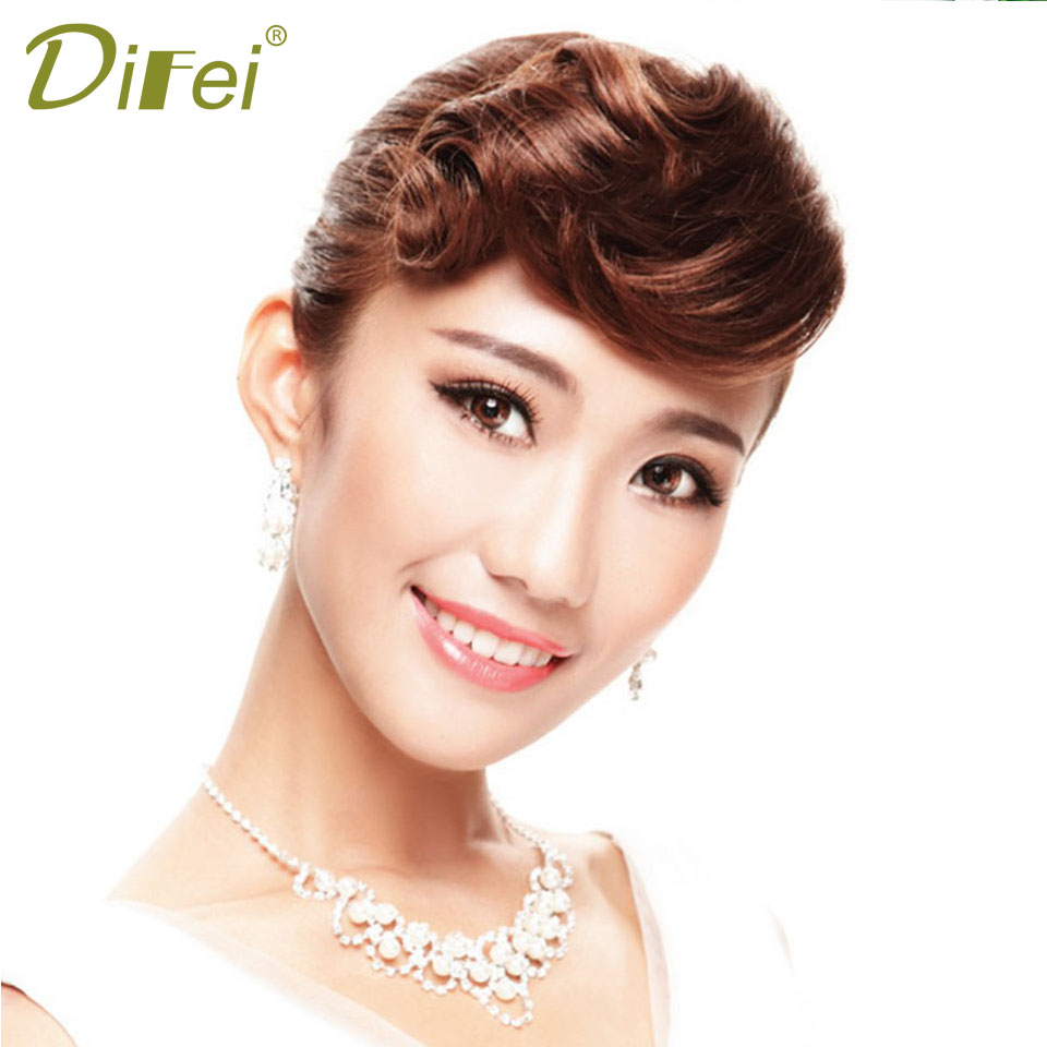 DIDEI Retro Chemical Fiber Bangs Female Fringe Bangs Natural Seamless Extension Bangs Extended Clip Bangs
