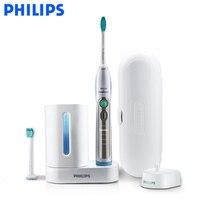 Philips Sonicare FlexCare + Sonic электрическая зубная щетка HX6972/10 с водой доказательство аккумуляторная для взрослых зубной щетки белый и серебристый