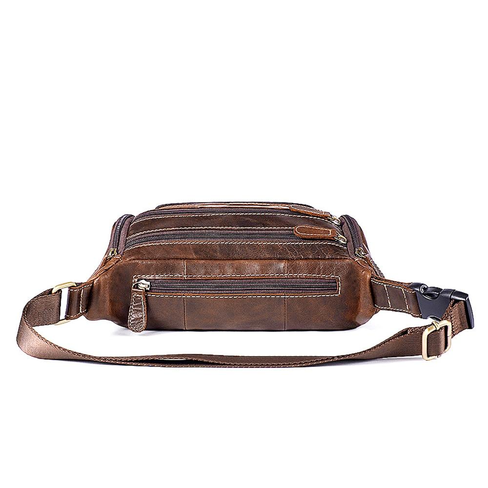 6c1d0ff5fb WESTAL genuine leather Travel Waist Pack Fanny Pack men Leather Belt ...
