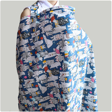 Godier Breastfeeding Cover Baby Infant Breathable Cotton Muslin Nursing Cloth L Large Size Big Nursing Cover Feeding Cover 96*72
