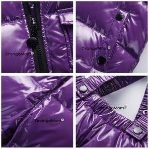 Image 3 - Orangemom offizielle store2018 mode metall farbe winter jacke kinder kleidung anzug für jungen mädchen mantel unten kinder schneeanzug