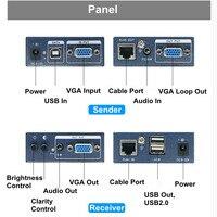 300 м без задержки без потери VGA + стерео аудио + USB KVM Extender над CAT5 CAT5e CAT6 RJ45 кабель VGA клавиатура Мышь видео разгибателей
