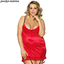 jocelyn katrina brand women's lingerie exotic sexy black garter nightgown large fat nightgown wholesale appeal
