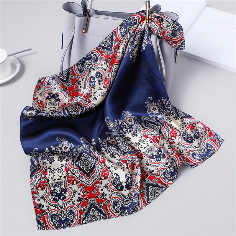 Luxury Brand 100% Silk   Scarf   Women New Square   Scarf   Shawl Pure Silk Neckerchief Spring   Scarf   Fashion   Scarves     Wraps   Dropshipping