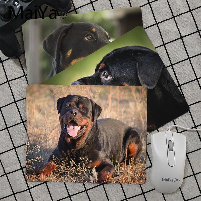Maiya High Quality Rottweiler Dog Animal Anti-Slip Durable Silicone Computermats Smooth Writing Pad Desktops Mate Mouse Pad