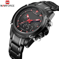 Top Luxury Brand NAVIFORCE Men Waterproof LED Sports Military Watches Men S Quartz Analog Digital Wrist