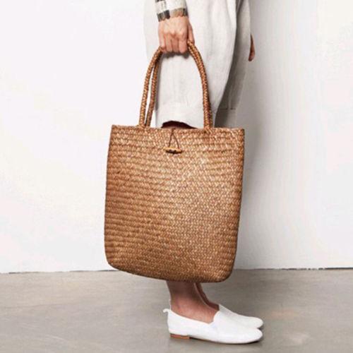 Fashion Womens Summer Straw Large Tote Bag Crossbody Beach Shoulder Handbag