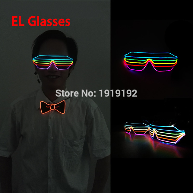 2017 Hot sales New Style 6 Color / 7 Color EL Wire Fashion Shutter ...