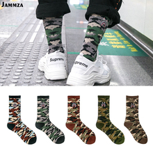Men brand street fashion socks Camouflage Women hiphop Korea skateboard sokken cotton Elasticity sporty Wear outside