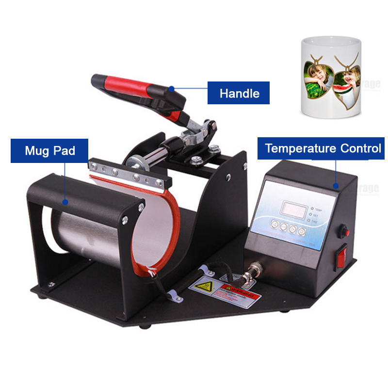 Promotion Portable Digital Mug Heat Press Machine Cup Heat Press DIY Creative Tool 220V 110V
