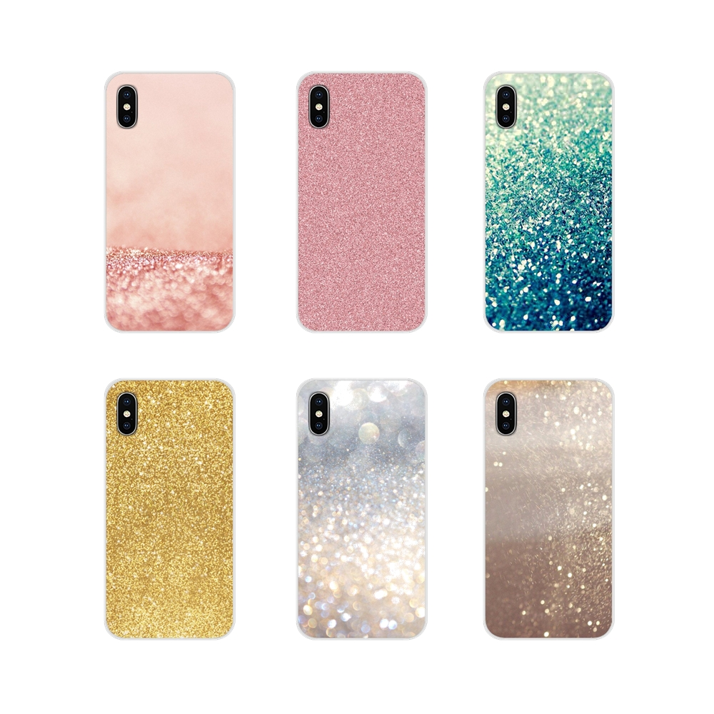 Accessories Phone <font><b>Cases</b></font> Covers For <font><b>Huawei</b></font> G7 G8 P7 P8 P9 P10 <font><b>P20</b></font> P30 <font><b>Lite</b></font> Mini Pro P Smart Plus 2017 2018 2019 Rose Gold <font><b>Glitter</b></font> image