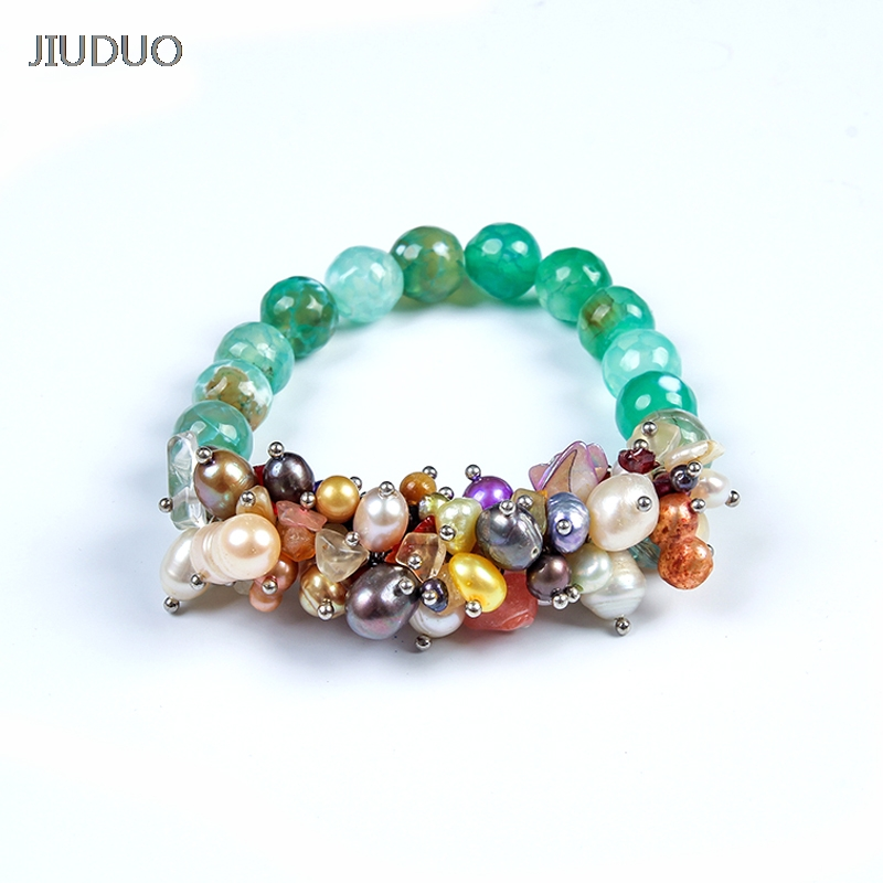 JIUDUO Jewelry accessories Rare natural pearl bracelet sterling silver pearl pendant tassel bracelet good goods not expensive fun is not expensive аксессуар для техники