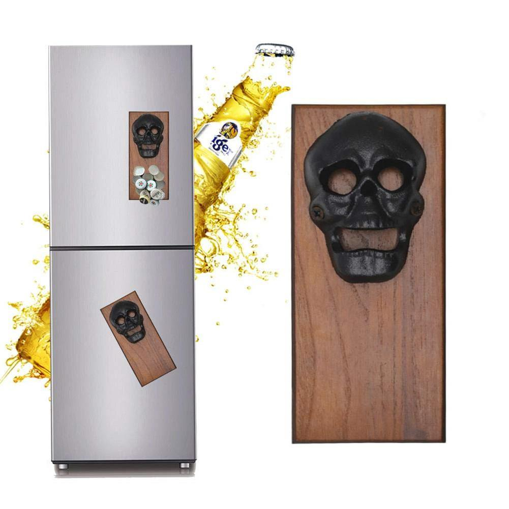 Retro Wall Mounted Beer Bottle Opener Easy To Mount On Wall Or Refrigerator Magnet On The Back Suitable For Men And Beer Lovers