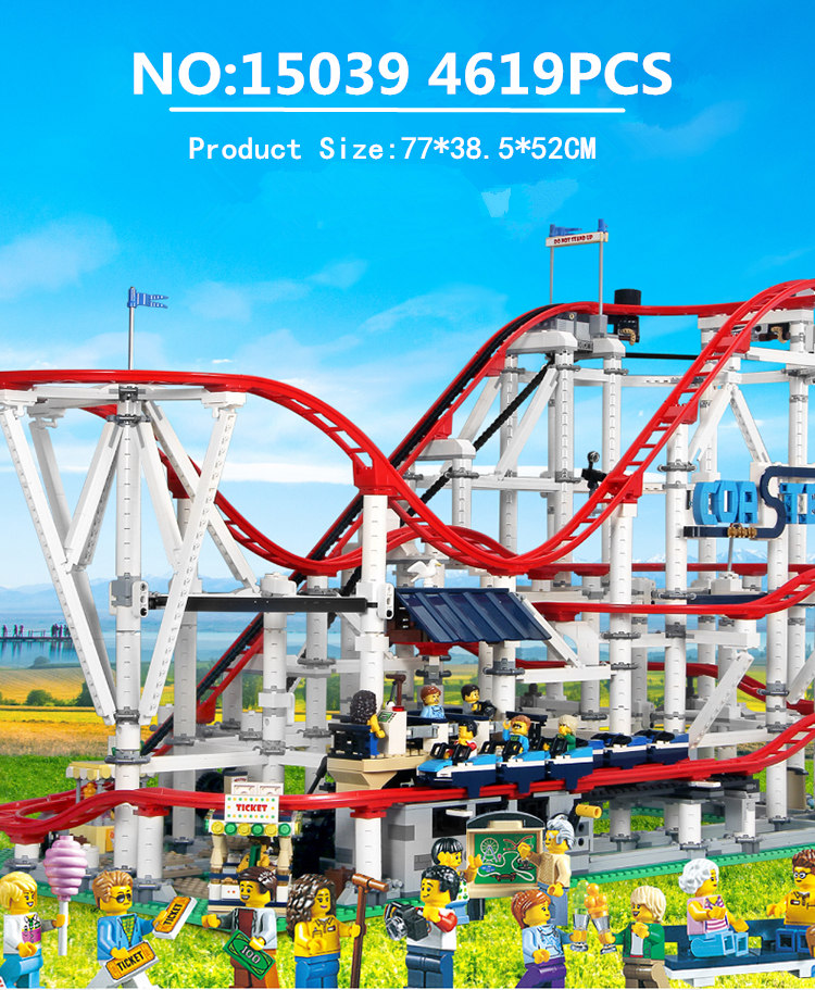 15039 With Motor Creator Expert Roller Coaster Technic Set Buidling Blocks Bricks 10261Birthday Gifts Toys(China)