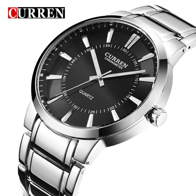 Prix pour Curren marque de luxe élégante montre occasionnel montres hommes pleine inoxydable sport quartz militaire montre hommes relogio de masculino, w8001m
