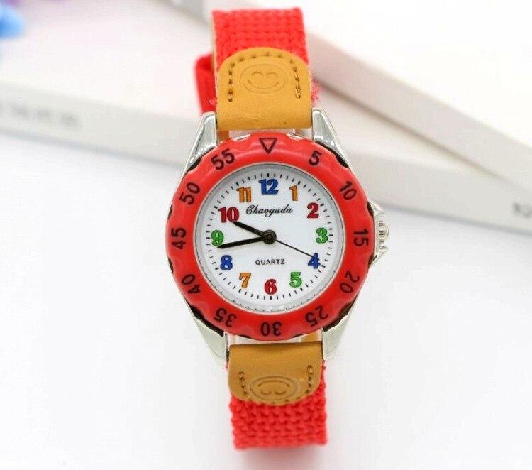 Reloj Mujer Montre Femme High Quality Blue Boy Black Quartz Watch Girl Kids Children's Gift Fabric Strap Student Wristwatch