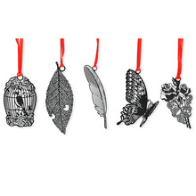5 pcs Vintage Black metal bookmarks Leaf Flower Butterfly bookmarks Beautiful gifts Classical Stationery  School supplies FC521 8 pcs sakura golded bookmarks vintage flower leaf bookmark page holder chinese stationery office school supplies fc517