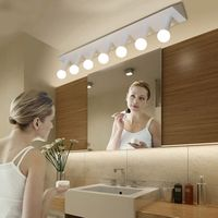 Modern minimalist creative triangle bar E27 LED bulb mirror light home deco bathroom black/white iron wall sconce lamp