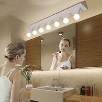 Modern Minimalist Creative Triangle Bar E27 LED Bulb Mirror Light Home Deco Bathroom Black White Iron
