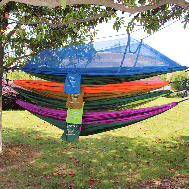 Hammock Outdoor Mosquito Net Camping Swing Double Garden Sturdy Comfortable Sturdy Large Lightweight Hammock high quality hammock camping hanging double swing outdoor parachute large sturdy compact portable hammocks