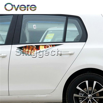 Overe 1PC Car stickers 3D Eyes Peeking Monster Styling For BMW E60 E36 E46 E90 E39 E30 F30 F10 F20 X5 E53 E70 E87 E34 image