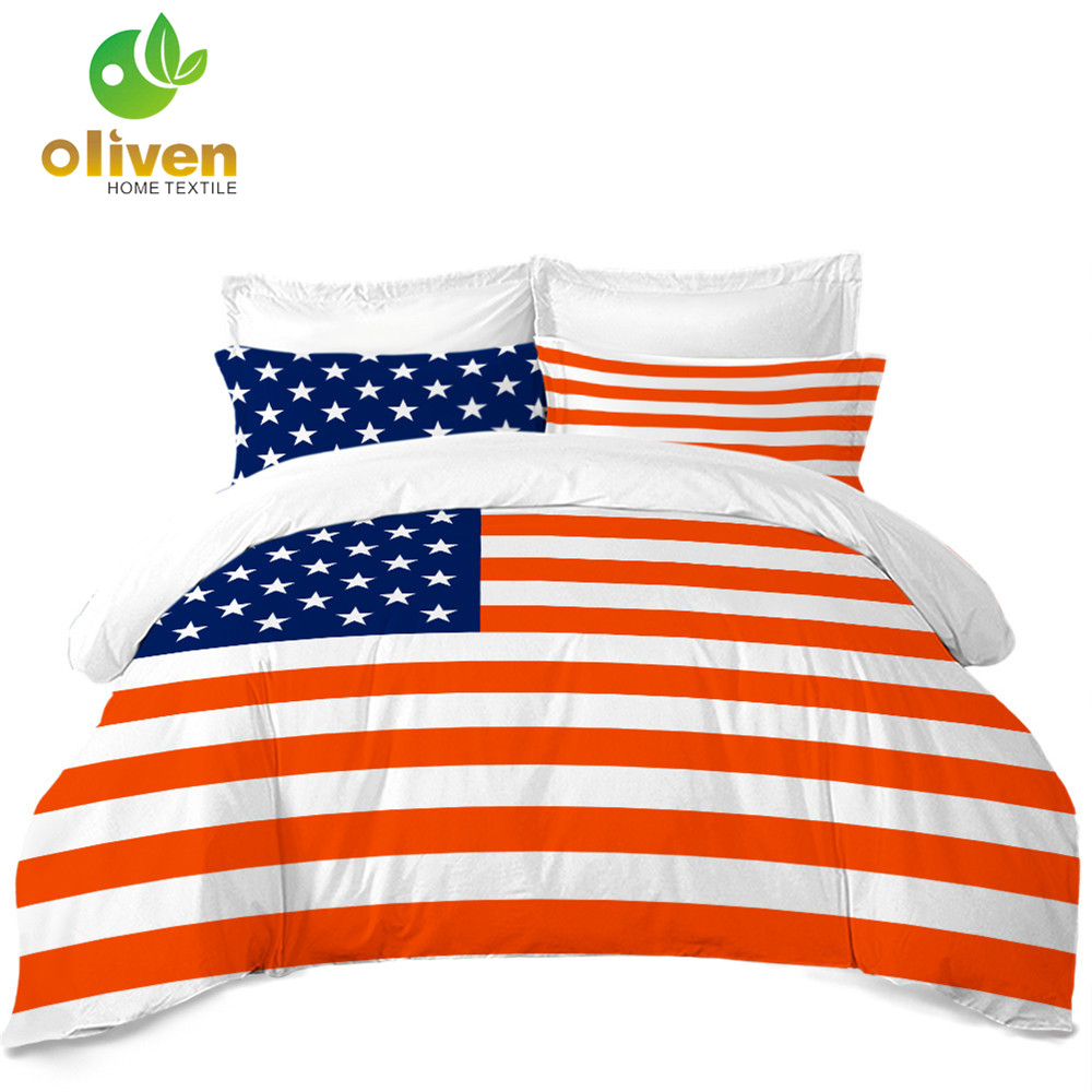 Classic American Flag Bedding Set Striped Star Print Duvet Cover Set Twin Full Queen King Quilt Cover Pillowcase 3Pcs B30Classic American Flag Bedding Set Striped Star Print Duvet Cover Set Twin Full Queen King Quilt Cover Pillowcase 3Pcs B30
