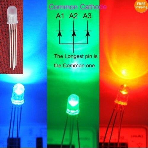 100x5 мм RGB светодиодный общий катод рассеянная линза