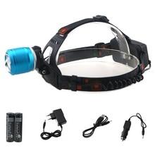 2000 люмен Масштабируемые CREE xm-t6 LED Велосипедные шлемы свет фар велосипед факел + 2×18650 Батарея + AC Зарядное устройство + автомобиль Зарядное устройство