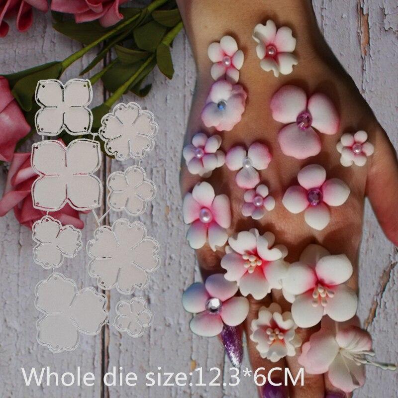 2019 8 Pcs Flower Spring Leaf METAL CUTTING DIES Stencil Scrap Booking Photo Album Card Paper Embossing Craft DIY 123*60 Mm