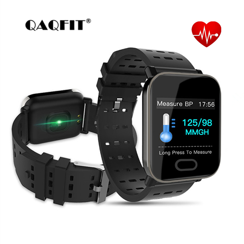 QAQFIT A6 Smart Bracelet Fitness Tracker Heart Rate Blood Pressure Monitor Smart Band IP67 Waterproof Sports For Android iPhone
