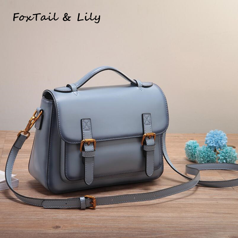 FoxTail & Lily Brand Women Messenger Bags Genuine Leather Handbags Fashion Trend Designer Ladies Small Shoulder Crossbody BagFoxTail & Lily Brand Women Messenger Bags Genuine Leather Handbags Fashion Trend Designer Ladies Small Shoulder Crossbody Bag