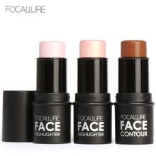 Focallure Face Makeup 4colors Highlighter Stick Shimmer Highlighting Powder Creamy Texture Silver Shimmer Light