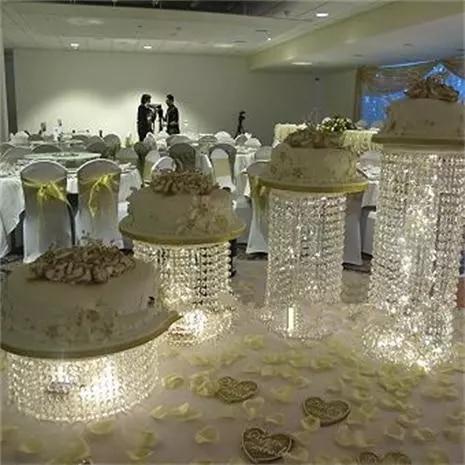 Crystal cake stand centerpiece Wedding Cake Display Birthday decoration - 5