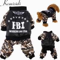 Wasserdicht FBI Haustier Hund Kleidung Insgesamt Verdickung Hund Welpen Overall Kostüm Warme Winter Kleidung Für Junge Hunde Ropa Para Perros