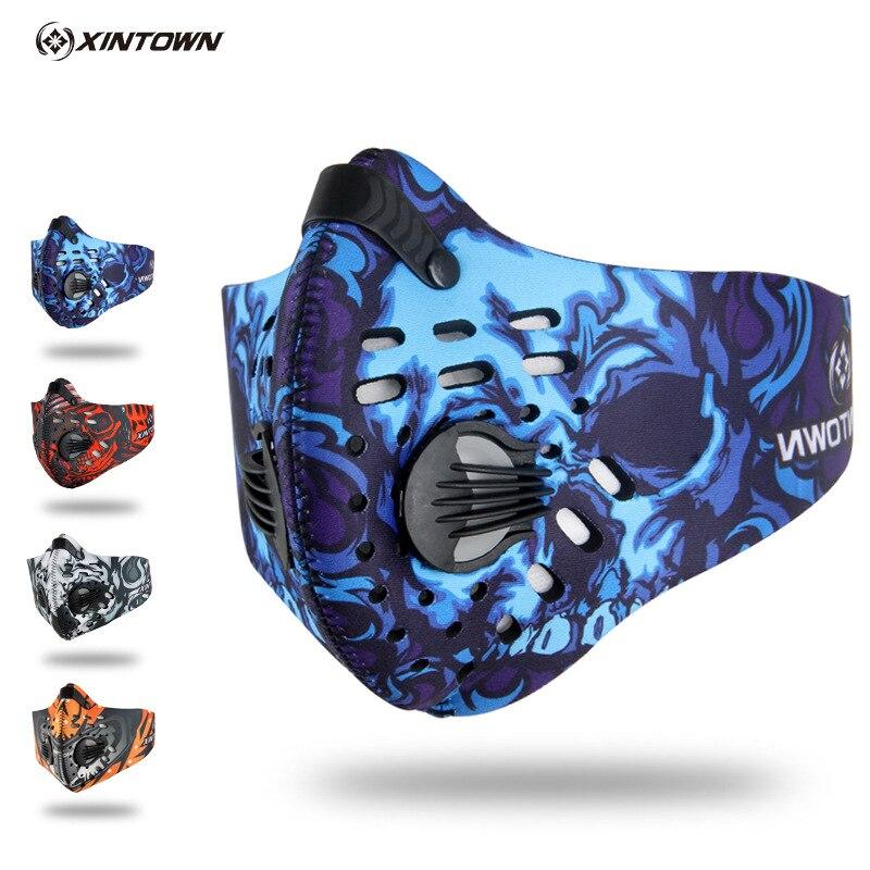 2018 nuevo ciclismo máscara de las mujeres de los hombres deporte máscaras Smog contra la contaminación Anti polvo máscara ciclismo bisiklet maske MTB bicicleta máscara
