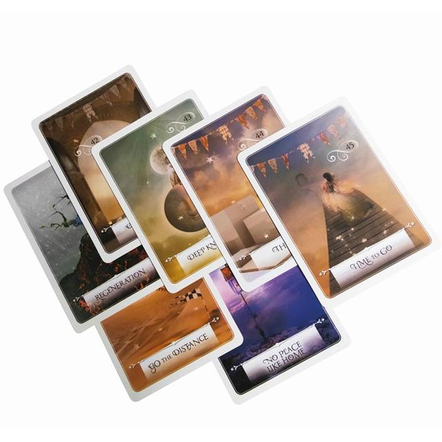 2019 New English Oracle Cards Mysterious Fortune Tarot Card Game Energy Wisdom Universe Goddess For Divination Fate Card