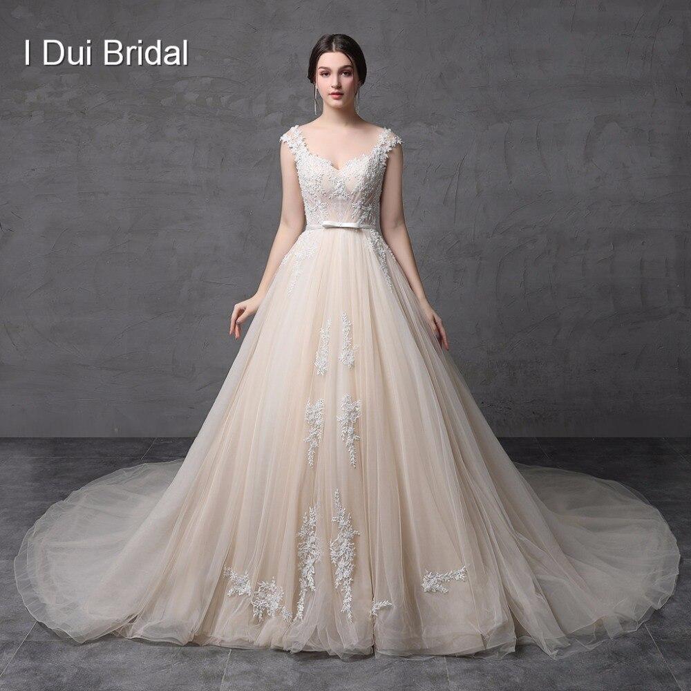 Aliexpress.com : Buy Champagne A Line Wedding Dresses