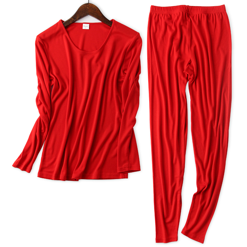 30% Silk +70% Wool Blended Warm Suit Thin Long Sleeved Knit Female Long Johns