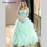 Gorgeous Quinceanera Dresses 2018 Masquerade Ball Gowns Puffy Fully Beading Crystals Corset Sparkly Sweet 16 Dress Quinceanera