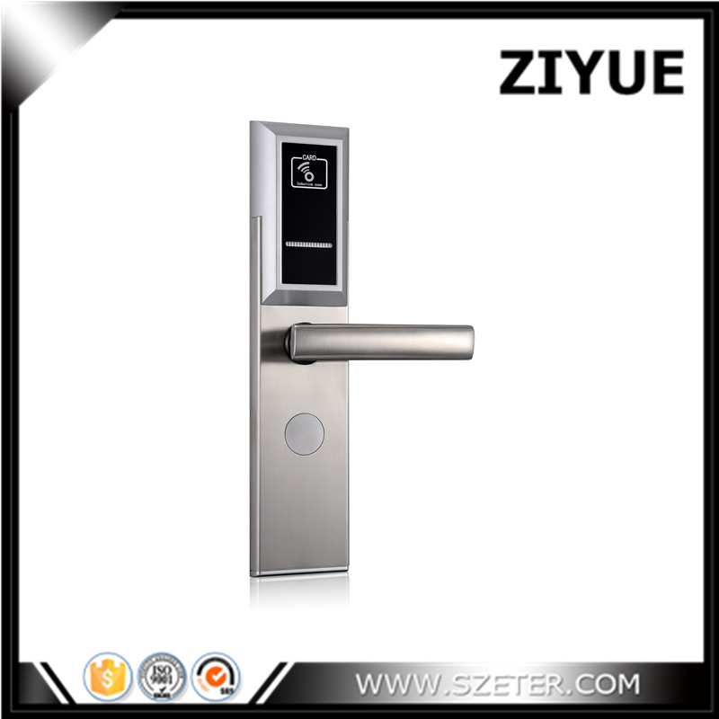 Best RFID Hotel Door Handle Locks for Hotel Use with Software digital electric best rfid hotel electronic door lock for flat apartment
