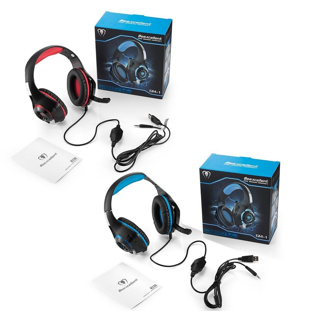 Beexcellent Gaming Headset GM-1 con Microfono per la Nuova Xbox 360 1 PS4 PC Portatili Del Cellulare Del Computer Suono Surround di Riduzione Del Rumore