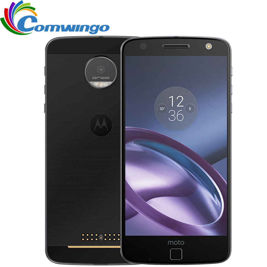 Original  Motorola MOTO Z XT1650-01 4GB RAM 32GB ROM Quad Core 5.5''Android 6.0 13.0MP FNC 2560*1440 4G LTE Mobile Phone Moto