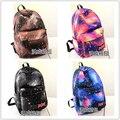 2014 Harajuku cielo estrellado impresión mochila estrella patineta edición de Han mujeres hombres mochila mochila escolar mochila infantil