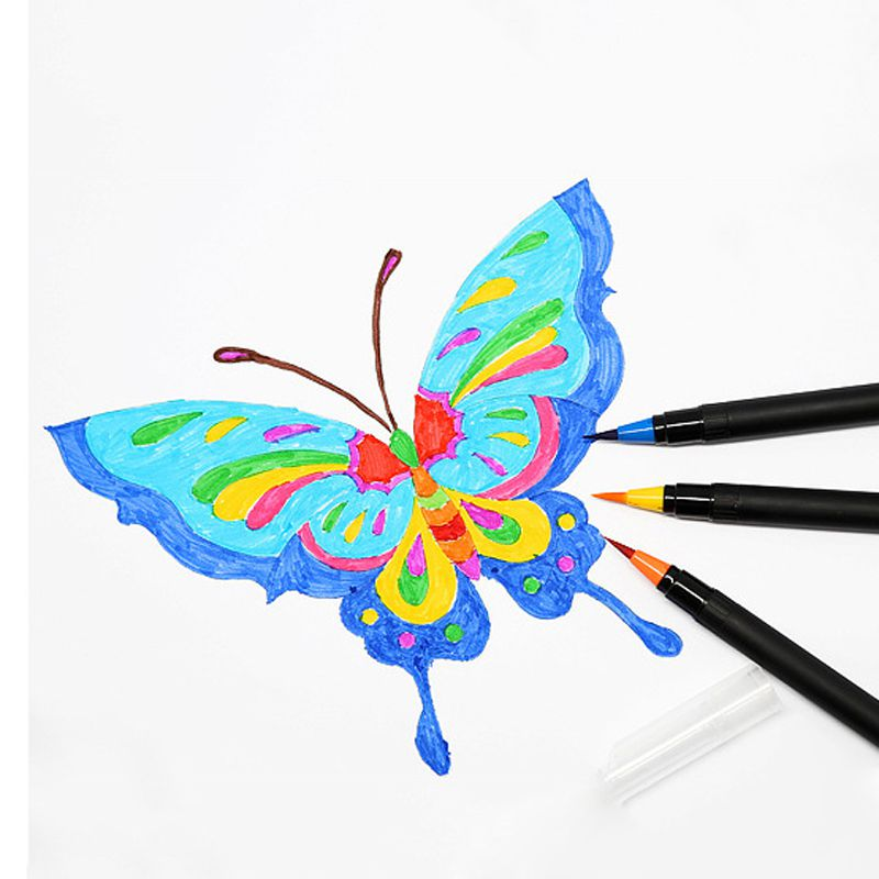 1Pcs 20 Color Watercolor Pen Soft Head Paint Brush Tap Water Pen Creative Calligraphy Pens Comic Hand Drawing Brush For Boy Girl