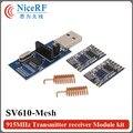 2 шт./лот 1400 м long distance 915 МГц TTL интерфейс ЯЧЕИСТОЙ сети приемопередатчик данных модуль SV610-Mesh | может быть использован в качестве ретранслятора