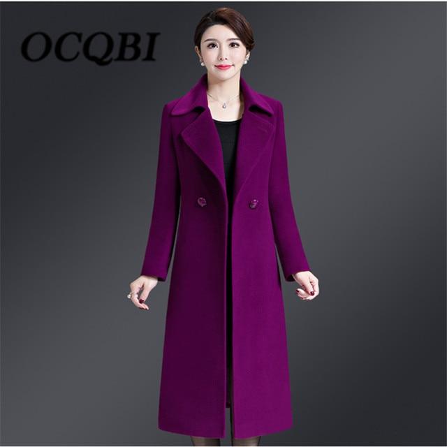 517cdc38385 2018 Winter Wool Slim Coat Korean Style High Quality Elegant Women New  Arrival Clothes 4xl Coat