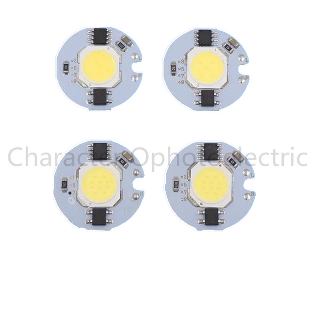 10 pcs COB LED Lamp Chip 3W 5W 7W 9W LED COB Bulb Lamp 220V IP65 Smart IC Driver Cold/ Warm White LED Spotlight Floodlight