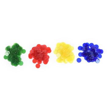50 sztuk 1 5cm 4 kolory losowe PRO liczyć żetonów Bingo markery do gra Bingo karty tanie i dobre opinie JULYHOT Poker Chips